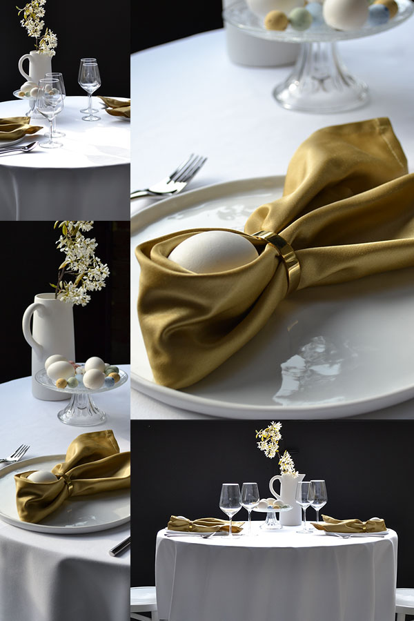 chic Easter table setting