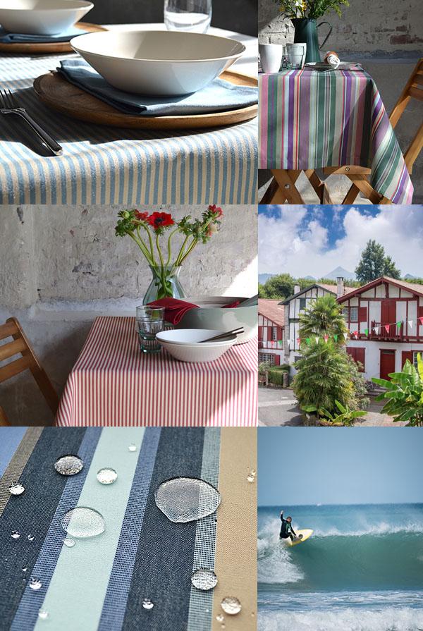 striped garden tablecloth