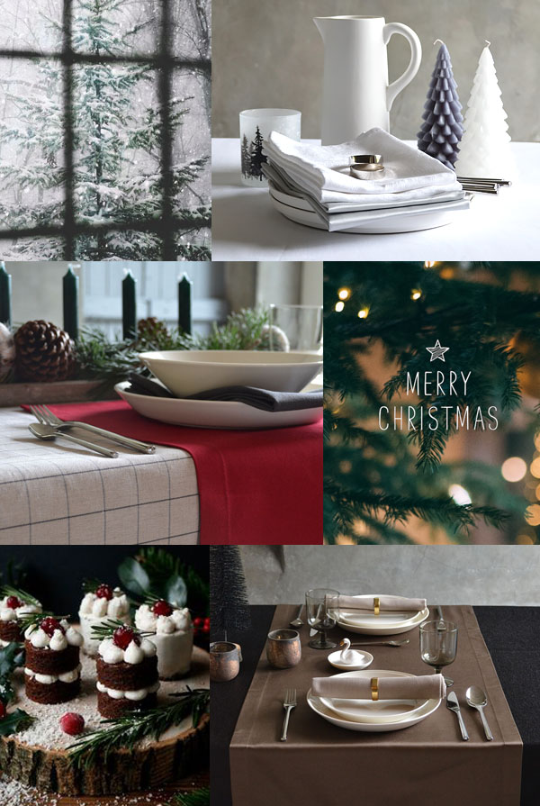 A Christmas tablecloth from Cottona transforms Christmas into a party