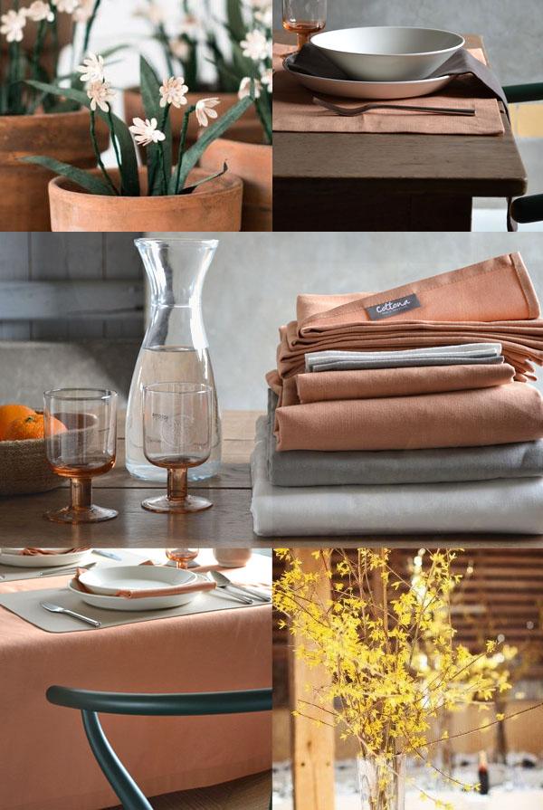 Terracotta tablecloth